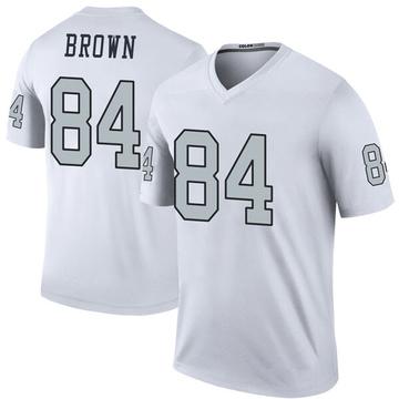 Youth Nike Las Vegas Raiders Antonio Brown White Color Rush Jersey - Legend
