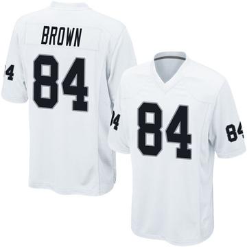 Youth Nike Las Vegas Raiders Antonio Brown White Jersey - Game