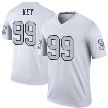 Youth Nike Las Vegas Raiders Arden Key White Color Rush Jersey - Legend