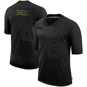 Youth Nike Las Vegas Raiders Art Shell Black 2020 Salute To Service Jersey - Limited