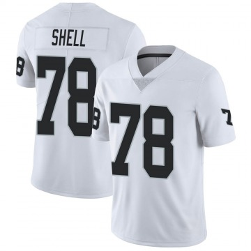 Youth Nike Las Vegas Raiders Art Shell White Vapor Untouchable Jersey - Limited