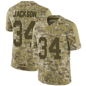 Youth Nike Las Vegas Raiders Bo Jackson Camo 2018 Salute to Service Jersey - Limited