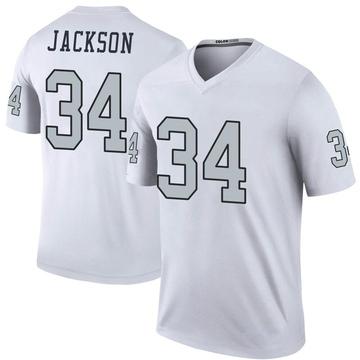 Youth Nike Las Vegas Raiders Bo Jackson White Color Rush Jersey - Legend
