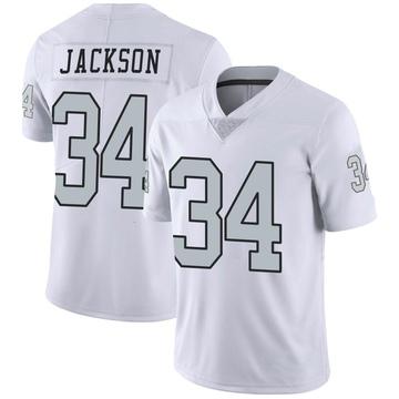 Youth Nike Las Vegas Raiders Bo Jackson White Color Rush Jersey - Limited