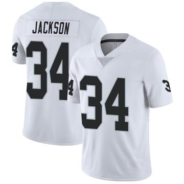 Youth Nike Las Vegas Raiders Bo Jackson White Vapor Untouchable Jersey - Limited