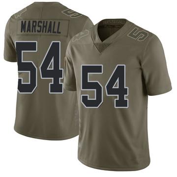 Youth Nike Las Vegas Raiders Brandon Marshall Green 2017 Salute to Service Jersey - Limited