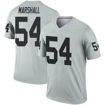 Youth Nike Las Vegas Raiders Brandon Marshall Inverted Silver Jersey - Legend