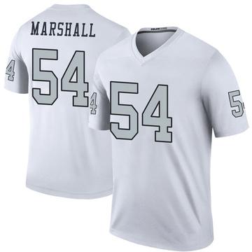 Youth Nike Las Vegas Raiders Brandon Marshall White Color Rush Jersey - Legend