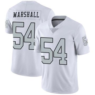Youth Nike Las Vegas Raiders Brandon Marshall White Color Rush Jersey - Limited