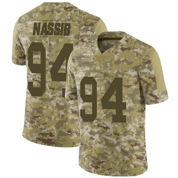 Youth Nike Las Vegas Raiders Carl Nassib Camo 2018 Salute to Service Jersey - Limited