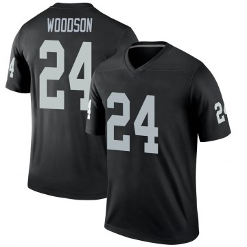 Youth Nike Las Vegas Raiders Charles Woodson Black Jersey - Legend