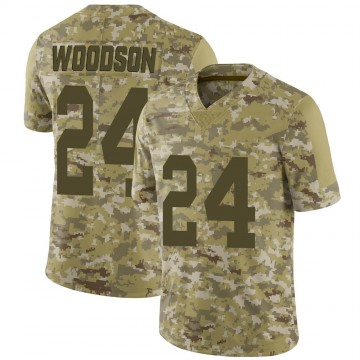 Youth Nike Las Vegas Raiders Charles Woodson Camo 2018 Salute to Service Jersey - Limited