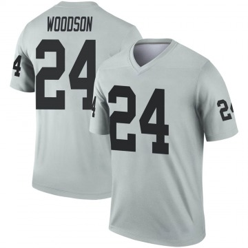 Youth Nike Las Vegas Raiders Charles Woodson Inverted Silver Jersey - Legend