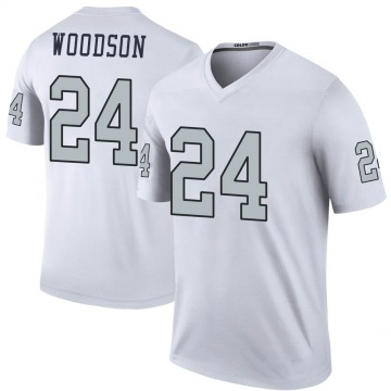 Youth Nike Las Vegas Raiders Charles Woodson White Color Rush Jersey - Legend