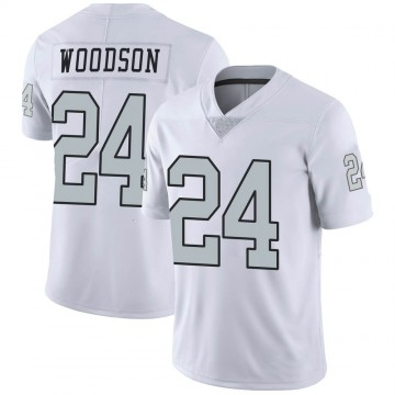Youth Nike Las Vegas Raiders Charles Woodson White Color Rush Jersey - Limited