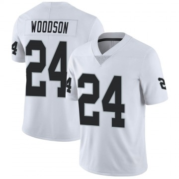 Youth Nike Las Vegas Raiders Charles Woodson White Vapor Untouchable Jersey - Limited