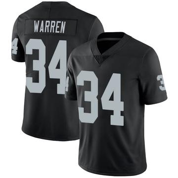 Youth Nike Las Vegas Raiders Chris Warren Black 100th Vapor Jersey - Limited
