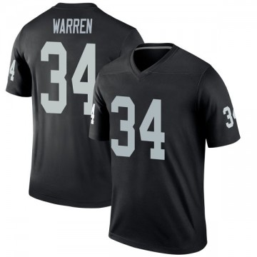 Youth Nike Las Vegas Raiders Chris Warren Black Jersey - Legend