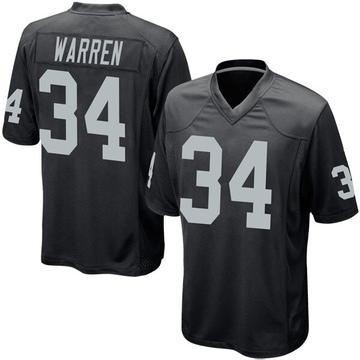 Youth Nike Las Vegas Raiders Chris Warren Black Team Color Jersey - Game