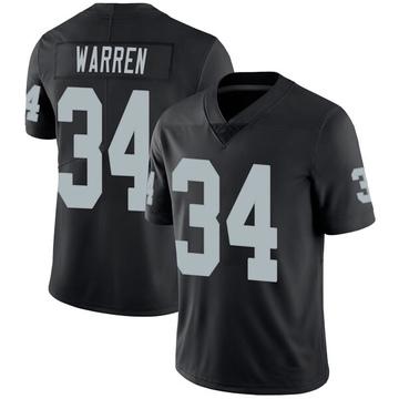 Youth Nike Las Vegas Raiders Chris Warren Black Team Color Vapor Untouchable Jersey - Limited
