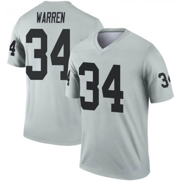 Youth Nike Las Vegas Raiders Chris Warren Inverted Silver Jersey - Legend