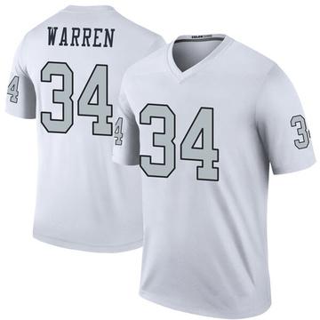 Youth Nike Las Vegas Raiders Chris Warren White Color Rush Jersey - Legend