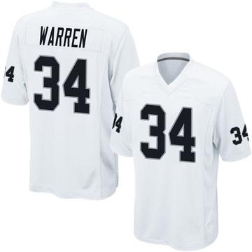 Youth Nike Las Vegas Raiders Chris Warren White Jersey - Game