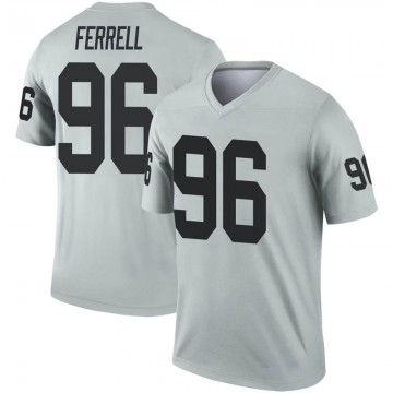 Youth Nike Las Vegas Raiders Clelin Ferrell Inverted Silver Jersey - Legend