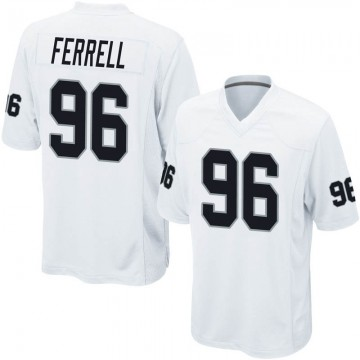 Youth Nike Las Vegas Raiders Clelin Ferrell White Jersey - Game