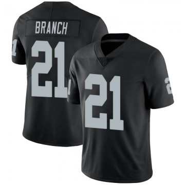 Youth Nike Las Vegas Raiders Cliff Branch Black 100th Vapor Jersey - Limited