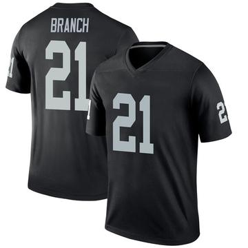 Youth Nike Las Vegas Raiders Cliff Branch Black Jersey - Legend