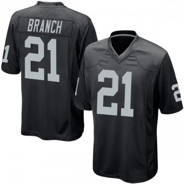 Youth Nike Las Vegas Raiders Cliff Branch Black Team Color Jersey - Game