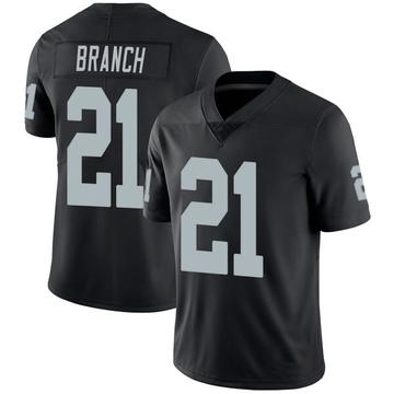 Youth Nike Las Vegas Raiders Cliff Branch Black Team Color Vapor Untouchable Jersey - Limited