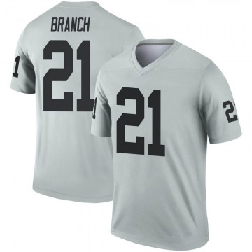 Youth Nike Las Vegas Raiders Cliff Branch Inverted Silver Jersey - Legend