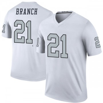 Youth Nike Las Vegas Raiders Cliff Branch White Color Rush Jersey - Legend