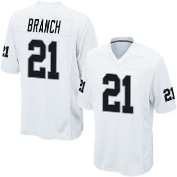 Youth Nike Las Vegas Raiders Cliff Branch White Jersey - Game