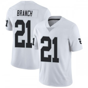 Youth Nike Las Vegas Raiders Cliff Branch White Vapor Untouchable Jersey - Limited