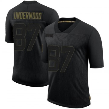 Youth Nike Las Vegas Raiders Colton Underwood Black 2020 Salute To Service Jersey - Limited