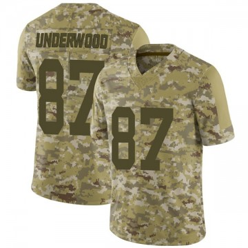 Youth Nike Las Vegas Raiders Colton Underwood Camo 2018 Salute to Service Jersey - Limited