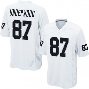 Youth Nike Las Vegas Raiders Colton Underwood White Jersey - Game