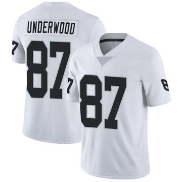 Youth Nike Las Vegas Raiders Colton Underwood White Vapor Untouchable Jersey - Limited