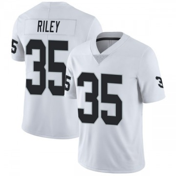 Youth Nike Las Vegas Raiders Curtis Riley White Vapor Untouchable Jersey - Limited