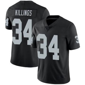 Youth Nike Las Vegas Raiders D.J. Killings Black 100th Vapor Jersey - Limited