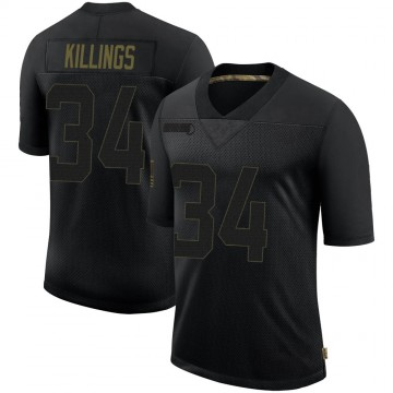 Youth Nike Las Vegas Raiders D.J. Killings Black 2020 Salute To Service Jersey - Limited