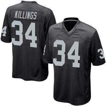 Youth Nike Las Vegas Raiders D.J. Killings Black Team Color Jersey - Game