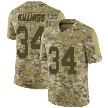Youth Nike Las Vegas Raiders D.J. Killings Camo 2018 Salute to Service Jersey - Limited