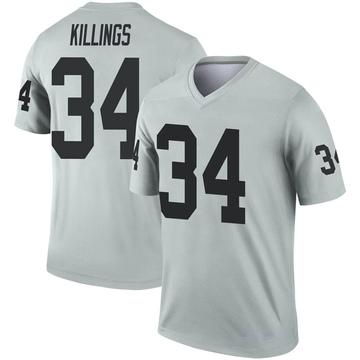Youth Nike Las Vegas Raiders D.J. Killings Inverted Silver Jersey - Legend