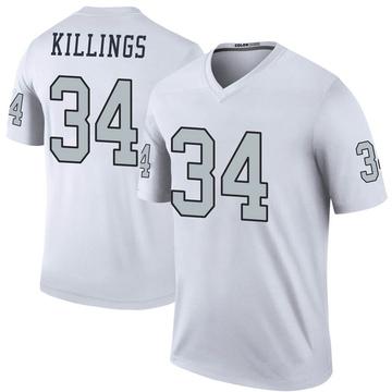 Youth Nike Las Vegas Raiders D.J. Killings White Color Rush Jersey - Legend