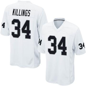 Youth Nike Las Vegas Raiders D.J. Killings White Jersey - Game