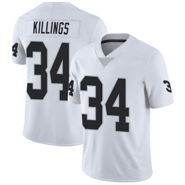 Youth Nike Las Vegas Raiders D.J. Killings White Vapor Untouchable Jersey - Limited